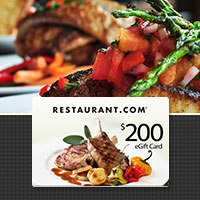$200 Restaurant.com eGift Card for just $35!
